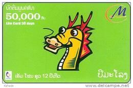 Laos  Phonecard     Zodiak Horoskop Dragon