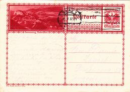 Österreich Austria Autriche Ganzsache Stationery  Semmering, Niederosterreich 1932