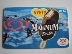 1 Chip Phonecard From Denmark - Icecream - Magnum