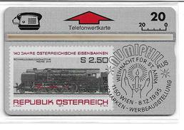 1406q: TWK Eisenbahnmotiv Aus Österreich (Rückseitig Maria Theresien- Taler) - Oesterreich