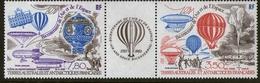 T.A.A.F. N° 83a P.a.  Triptyque Bicentenaire De L'Air Et De L'Espace 1983 - Unused Stamps