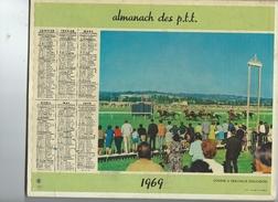 Calendrier PTT 42 Loire  1969 Photos Course Deauville 14 Et Telepherique Brevent 74 2 Scan 1,50 Frais Envoi F - Big : 1961-70