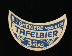 MOORSLEDE :: BROUWERIJ GHEKIERE - TAFELBIER 3DE KLAS - Bière