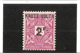 HAUTE VOLTA  Timbres Taxe  Surchargé  N° 9 * - Upper Volta (1920-1932)