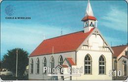 Falkland Phonecard  St. Mary`s Church