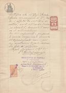 Napoli. 1937. Marca SINDACATO PROV FASCISTA DEI MEDICI NAPOLI,  Su Documento. BELLA. - Otros