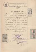 Napoli. 1940. Marca SINDACATO PROV FASCISTA DEI MEDICI NAPOLI,  Su Documento. BELLA. - Otros