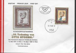 AUTRICHE    FDC    1986 Poete Otto  Stoessl