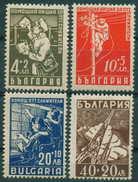 + 0674 Bulgaria 1947 Postman Radio Towers Lineman Telephone Operators **MNH / Postbeamte Bulgarie Bulgarien Bulgarije - Neufs