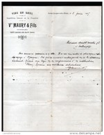 FACTURE DE FEVRIER 1905, VINS EN GROS, Vve MAURY & FILS A SAINT JACQUES DES BLATS, CANTAL - Alimentaire