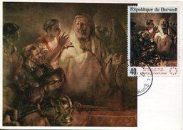 21332 Burundi, Maximum 1975 Painting Of Rembrandt,  St. Peter Denying Christ