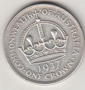 George VI  One Crown 1937 Australia Arg.925 Grammi 28,28  Conservazione Bb+ - Moneta Pre-decimale (1910-1965)