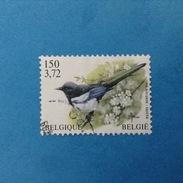 2001 BELGIO BELGIE BELGIQUE FRANCOBOLLO USATO STAMP USED - Fauna Uccelli 3,72 - Belgio