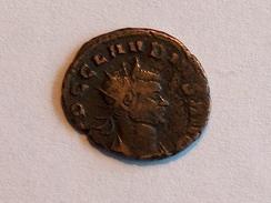 Monnaie ROMAINE 35 Claudius Gothicus IMP C CLAVDIVS PAX AVG RIC 79 Baton Sens Inverse Poids 2.8g Diam 2.0cm - 5. The Military Crisis (235 AD To 284 AD)