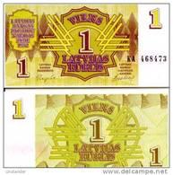 LATVIA  1 Rublis 1992 **UNC** - Latvia