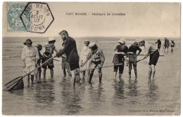 CPA 80 - FORT MAHON (Somme) - Pêcheurs De Crevettes - Coll. Miot-Leboeuf - Fort Mahon