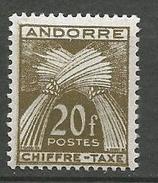 ANDORRE TAXE N° 31 NEUF**  SANS CHARNIERE / MNH