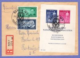 DDR SC #237a, 244, 248 10-10-1955 W/special Cancellation - [6] Democratic Republic