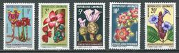 Gabon YT N°243/247 Fleurs Neuf/charnière * - Gabon (1960-...)