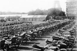 Militaria WW1 - Dépôt De Side-cars US à Paris En 1917 - 1914-18