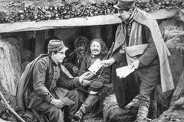 Militaria WW1 -  Distribution De Courrier Dans La Tranchée - 1914-18