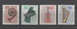 (S1560) WEST GERMANY (FEDERAL REPUBLIC), 1973 (Musical Instruments). Complete Set. Mi ## 782-785. MNH**