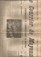 Le Courrier De Mayenne No 165 Du 14 Dec 1947  Adieu à Leclerc Mayenne élections - Revues & Journaux