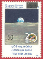 Sri Lanka Stamps 2005, First Moon Landing, Surcharge, MNH - Sri Lanka (Ceylon) (1948-...)