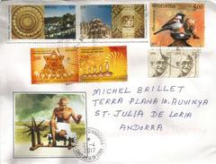 INDE.Mahatma Gandhi Filant Au Rouet., Sur Lettre De Kerala (India), Adressee ANDORRA, Avec Timbre à Date Arrivée - Mahatma Gandhi