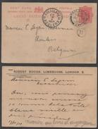 GB - LONDRES - POPLAR / 1911 ENTIER POSTAL REPIQUE POUR LA BELGIQUE (ref LE1153) - Stamped Stationery, Airletters & Aerogrammes