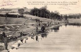 MONTLUCON LES PLAISIRS DE LA PECHE A LA LIGNE UN DIMANCHE A LA PRISE D'EAU DU CANAL (ETANG DE SAULT) - Montlucon