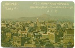 Yemen - View Of San'A - 1YEMA -  50U, 1992, Used - Yemen