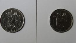 """Netherlands - 1968/70 - 1 Gulden - Mintmark """"fish""""(1968) + """"cock""""(1970) - KM 184a - VF+"""