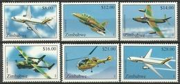 ZIMBABWE  2001  AIRCRAFT SET  MNH - Zimbabwe (1980-...)