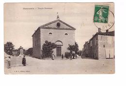 32 Mauvezin Temple Protestant Edit JBL Tabacs Cachet 1914 , Voir Etat Ci Dessous - Andere Gemeenten