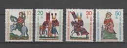 (S1565) WEST GERMANY (FEDERAL REPUBLIC), 1970 (Minnesingers). Complete Set. Mi ## 612-615. MNH**