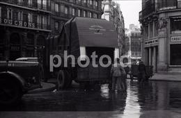 1963 CAMION HALLES PARIS FRANCE 35mm  AMATEUR NEGATIVE NOT PHOTO NEGATIVO NO FOTO - Other