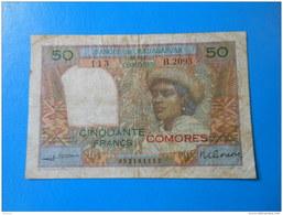 Comores Comoros 50 Francs 1960-1963 P.2b RARE