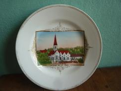 Dekorteller Mit Ansicht Von Jedenspeigen - Porzellan & Keramik