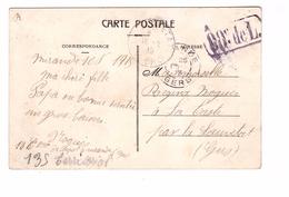 Marcophilie Guerre 1914 1918 Cachet Militaire 88e De L. Correspondance 1915 Mirande - Postmark Collection (Covers)