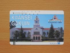 Japon Japan Free Front Bar, Balken Phonecard - 110-3211 / Kwansei Gakuin - Japan