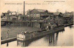 CPA - MONTCEAU-les-MINES (71) - Chargement D'un Bateau Dans Le Port En 1909 - Montceau Les Mines