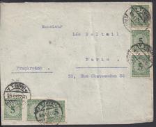 ALLEMAGNE - 1923 - Pèriode Inflation - Réforme Monétaire - Krach - Enveloppe De Frankfurt (Main) Pour Paris - - Deutschland