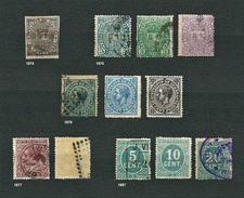 "SPAGNA 1874-1897 - Selezione 12 Emissioni ""Impuesto De Guerra"" - Tasse Di Guerra"