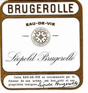 """Étiquette """" EAU  DE VIE  - Léopold Brugerolle"""" - Autres"""