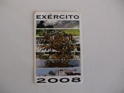 Portuguese Army Exército Português Pocket Calendar 2008 - Calendari