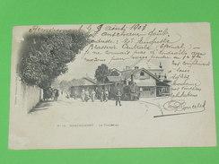 REMIREMONT   1903  /   LE TRAMWAY  / TRAIN VAPEUR EN VILLE   / CIRC OUI  EDIT - Remiremont