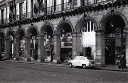 1963 FIAT 600 RUE RIVOLI PARIS FRANCE 35mm  AMATEUR NEGATIVE NOT PHOTO NEGATIVO NO FOTO - Other