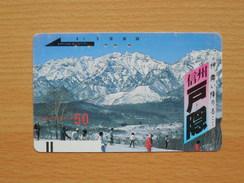 Japon Japan Free Front Bar, Balken Phonecard - 110-3262 / Schi Sport, Skiing, Ski / Gebirge, Mountain, Montagne - Mountains