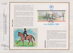 Feuillet Tirage Limité CEF 381 Bloc 60 2121 2122 Los Angeles Jeux Olympiques Tir à L'arc équitation Wetteren - Tarjetas – Máxima